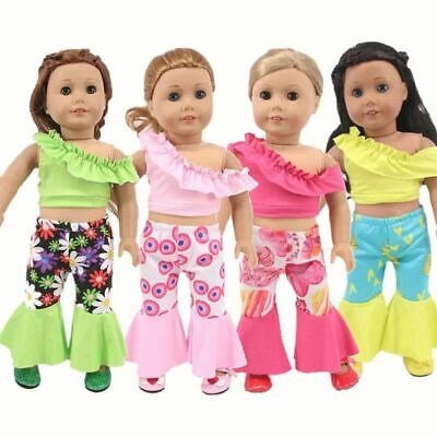 £5.79 • Buy Doll Clothes Disco Dancer Outfit Wide Pants Top Fit 18  American Dolls 45 Cm 1/4