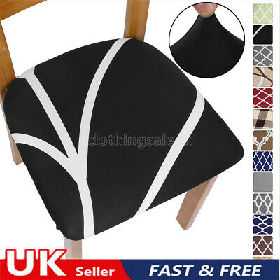£3.49 • Buy Removable Stretch Dining Chair Seat Covers Seat Cushion Covers Slipcovers UK