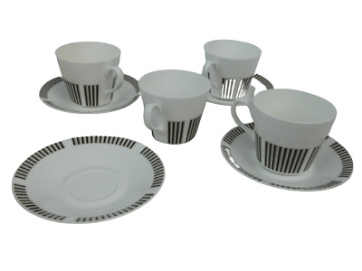 £6.99 • Buy Royal Osborne Set Of 4 Bone China Caprice Pattern Cup And Saucers