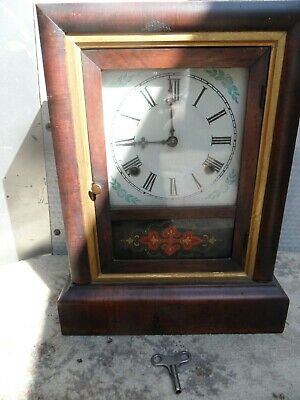 """£50 • Buy Antique American """"ANSONIA""""  30 Hour Mantle Clock In Rosewood Finish"""