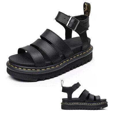 £24.99 • Buy 2021 Dr Martenss BLAIRE WOMEN'S HYDRO LEATHER GLADIATOR SANDALS Soft NAPPA UK