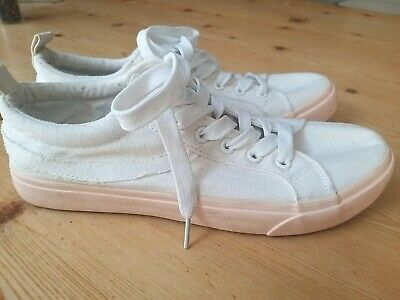£5.99 • Buy Primark White Trainers Pink Sole Lace Up Size 6