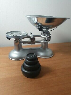 £30 • Buy Victor England Kitchen Balance Scale Metric Weights Cast Iron Imperial Weights
