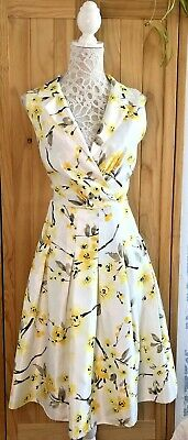 £4 • Buy Jessica Howard Yellow Floral Light Weight Summer Dress In Size UK 16
