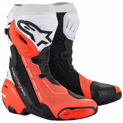 £449.99 • Buy Alpinestars Supertech R Vented Boots Motorbike Motorcycle Track Black White Red