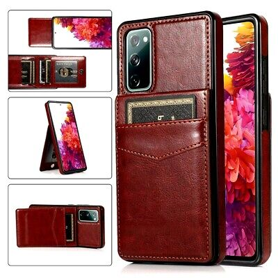 AU16.95 • Buy Pu Leather Card Holder Stand Phone Case For Samsung Galaxy S21 S20 FE S10 S9 S8