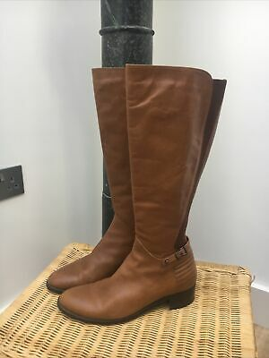 £79 • Buy Russell & Bromley Aquatalia Brown Leather Knee High Boots Size 40 EXCELLENT