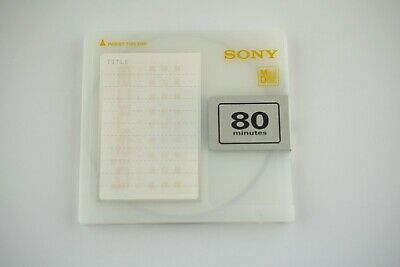 $8 • Buy Sony Md Disk  Bianca Recordable Minidisk 80 Minutes Audio Media No Test 21060303