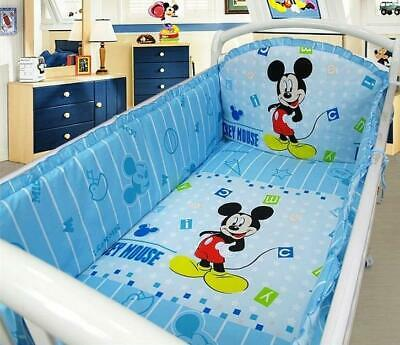 £41.73 • Buy Mickey Mouse Crib Baby Bedding Cribs For Babies Cot Bumper Bed Around Set 6 Pcs