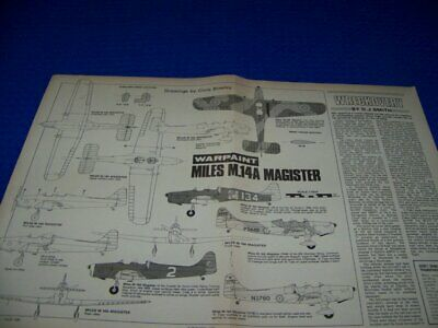 $7.99 • Buy Miles M.14a Magister (1/72 Scale) Large 6-views/cross Sections (418z)