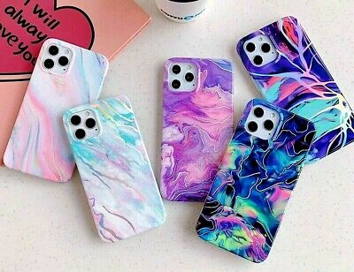 AU10.95 • Buy Gradient Laser Marble Phone Case For IPhone 11 12 11Pro Max XR XS Max X 7 8 Plus
