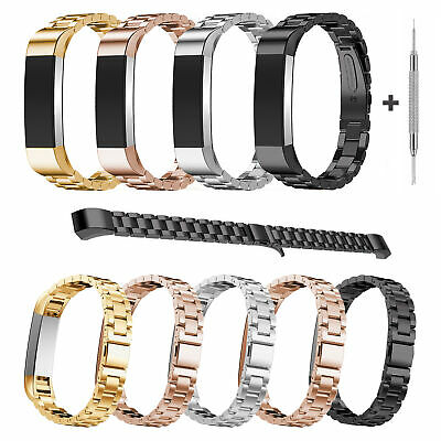AU19.62 • Buy For Fitbit Alta/Fitbit Alta HR Band Small Large Stainless Steel Metal Bracelet
