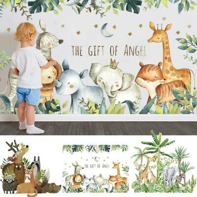 £6.49 • Buy Children Wall Stickers Room Jungle Forest Animals Decal Mural Nursery Kids Decor