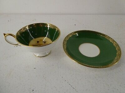 £60 • Buy Aynsley Gold China Orchard Fruit Cabinet Cup And Saucer Fruit Design Green. F23