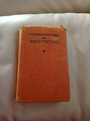 £7.99 • Buy The Observers Book Of Architecture 1958