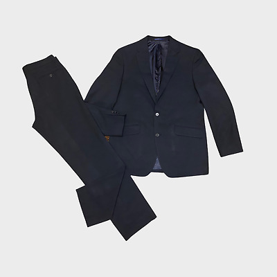 £19.07 • Buy TAYLOR & WRIGHT Mens 2 Piece Suit Jacket Size 40R Trouser W32 L32 Navy Striped