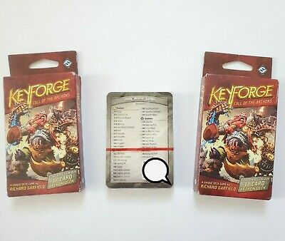 $ CDN28.41 • Buy Call Of The Archons KeyForge Archon Deck Fantasy Flight Games Set Of 2 & More