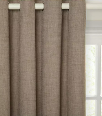 £34.99 • Buy Pair John Lewis Lined Eyelet Curtains 'Barathea' In Mocha D.54  X W.46  NEW
