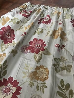 £19.99 • Buy Curtains Floral Textured Woven Jacquard Fabric MONTGOMERY PAIR W66  X D70
