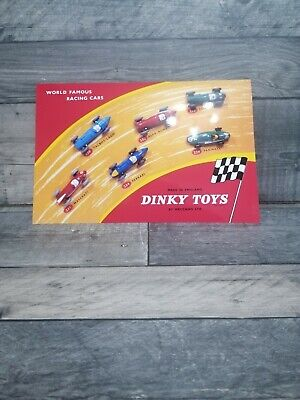 £3.99 • Buy Dinky Toys World Famous Racing Cars Shop Display Sign 230 231 232 233 234 239