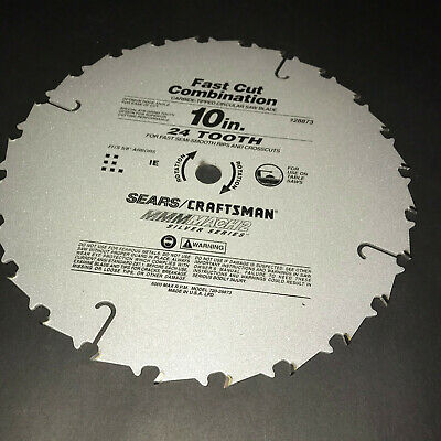 £18.98 • Buy Craftsman 10  Bench Table Saw Blade Fast Cut Combination Sears 24 Tooth