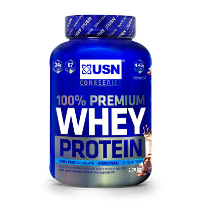 £41.99 • Buy USN 100% Premium Whey Protein 2.28kg Concentrate & Isolate Chocolate