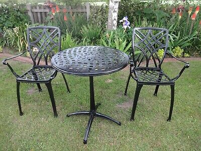 £159 • Buy Garden Furniture Set - Table And 2 Chairs - Cast Aluminium