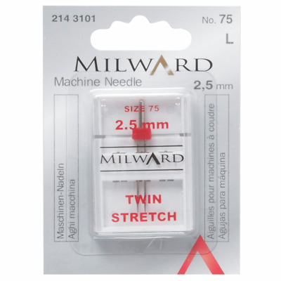 £3 • Buy Milward Sewing Machine Needles Mixed Stretch Twin Knits Lycra Elasticise Fabric