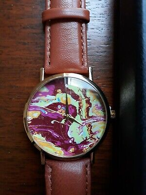 £7.06 • Buy Mens Psychedlic Paint Splatter Look Watch New With Box