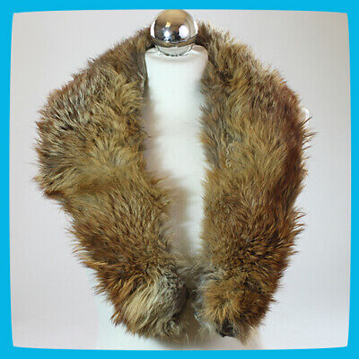£21.99 • Buy Women's Winter Collar Scarf Tippet Ruff Scarve Shawl Stole Natural Brown Fox Fur