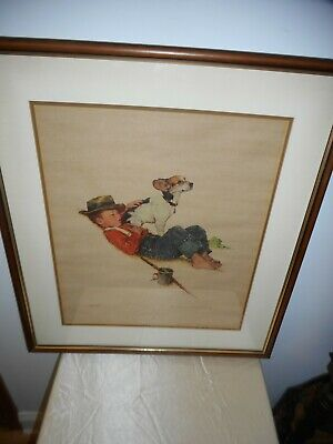 $ CDN103.22 • Buy Norman Rockwell 1956 Original Signed & Numbered (215/300) Framed Lithograph!