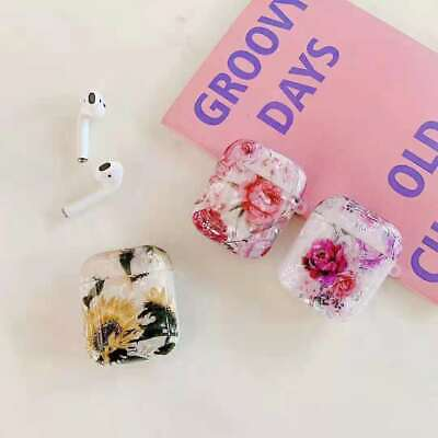 $ CDN11.09 • Buy For Apple AirPods 1&2 Case Marble Cute Pearl Shell Glitter Cover