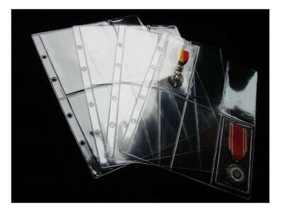 £7.19 • Buy Pages For Medal Album - Type 6 - For Six Medals Or Banknotes X 10 Sleeves