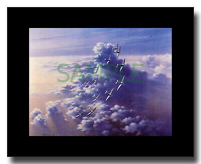 £8 • Buy Supermarine Spitfires Squadron Turning Framed Picture Charles Thompson