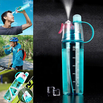 £6.99 • Buy Spray Water Bottle For Drinking Sports Cycling BPA Free Portable Leakproof 400ML