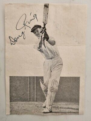 AU40 • Buy Doug Ring Invincibles Signed Neat Bookplate Picture Cricket Australia Ashes