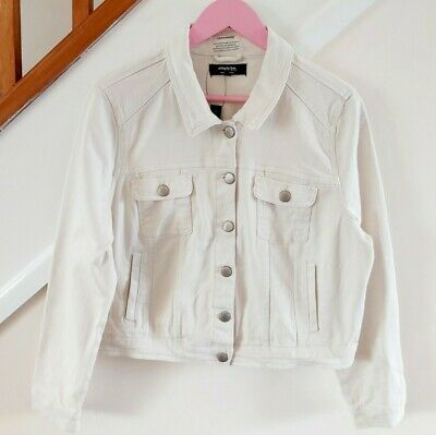 £4.20 • Buy *NEW* Cream SIMPLY BE Denim Jacket Size 18 Spring Summer Smart Holiday Party