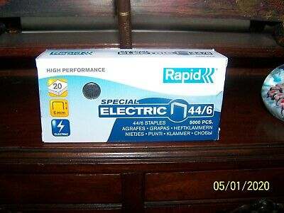 £10 • Buy 5 Boxes Rapid Special Electric 44/6 Staples