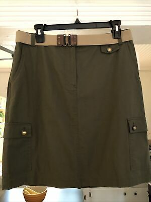 $15.95 • Buy Covington SIZE 8 Misses Military Green Skirt NEW WITH TAGS COTTON, Free Shipping