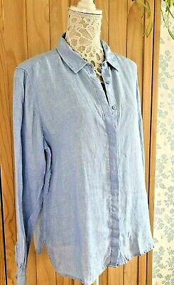 £2.25 • Buy Marks And Spencer 100% Linen Chambray Shirt In Size UK 16