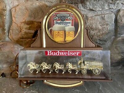 $ CDN245.48 • Buy Vintage Budweiser  WORLD'S CHAMPION CLYDESDALE TEAM  Lighted Beer Sign WORKS