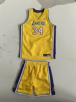 $59.99 • Buy 1/6 Lakers Shaquille O'Neal SHAQ HOME Yellow Embroidered Jersey For ENTERBAY