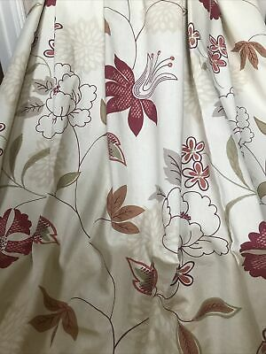 £25 • Buy Curtains LONG Floral Pair High Quality By MONTGOMERY W76 XD85  Eyelets Lined