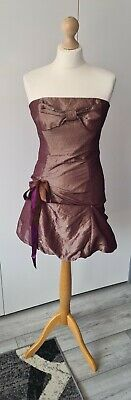 £2.99 • Buy Hunters & Gatherers Bronze Shimmer Strapless Silk Dress, Lace Up, Size 10 (C10)