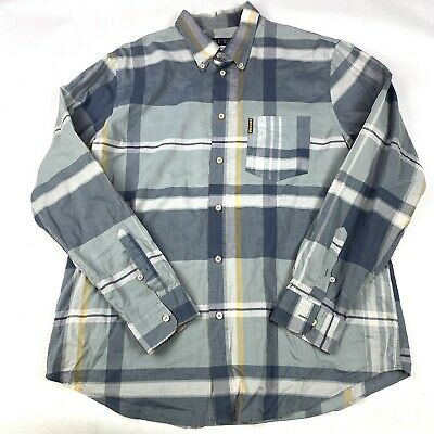 £29.99 • Buy Armani Jeans Blue/grey Checked Cotton Long Sleeve Shirt Size XXL