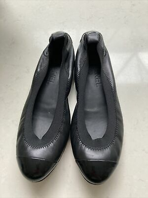 £200 • Buy CHANEL Ballet Flats 36 - Black Patent Leather. Worn Once