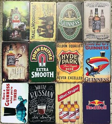 £6.95 • Buy Metal Wall Signs - Beers Wines Beverages - Top Quality -Large Size 30 X 20cm