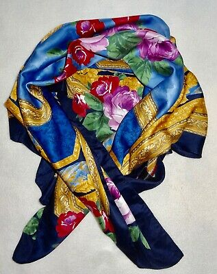 £8.99 • Buy TIE RACK ART OF THE SCARF-VINTAGE-35 X35  FLORAL POLYESTER PLS READ ALL DETAILS