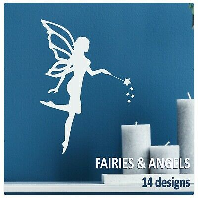 £8.99 • Buy Fairy Wall Stickers Vinyl Transfer Girls Fairies Decal Pixie Angel Wings Graphic