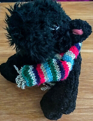 £4.10 • Buy Chilly And Friends Black Scottie Dog Soft Toy With Scarf